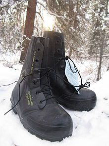 "Black Excw ""mickey mouse"" Boots with valve -USED"