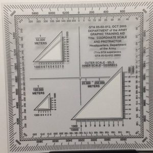 Military Style UTM/MGRS Coordinate Scale