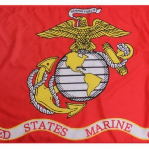 "27""x41"" USMC (Globe and Anchor) Banner"
