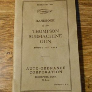 Basic Field Manual for Thompson M1928 Dated
