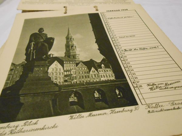 1938 Calendar from Hamburg, Germany photos